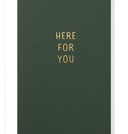 Papette Papette small greeting card 'Here for you' 8,5 x 13,3 cm