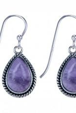 Treasure Silver earrings - amethyst