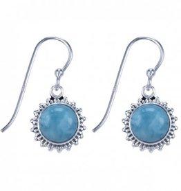 Treasure Silver earrings - larimar
