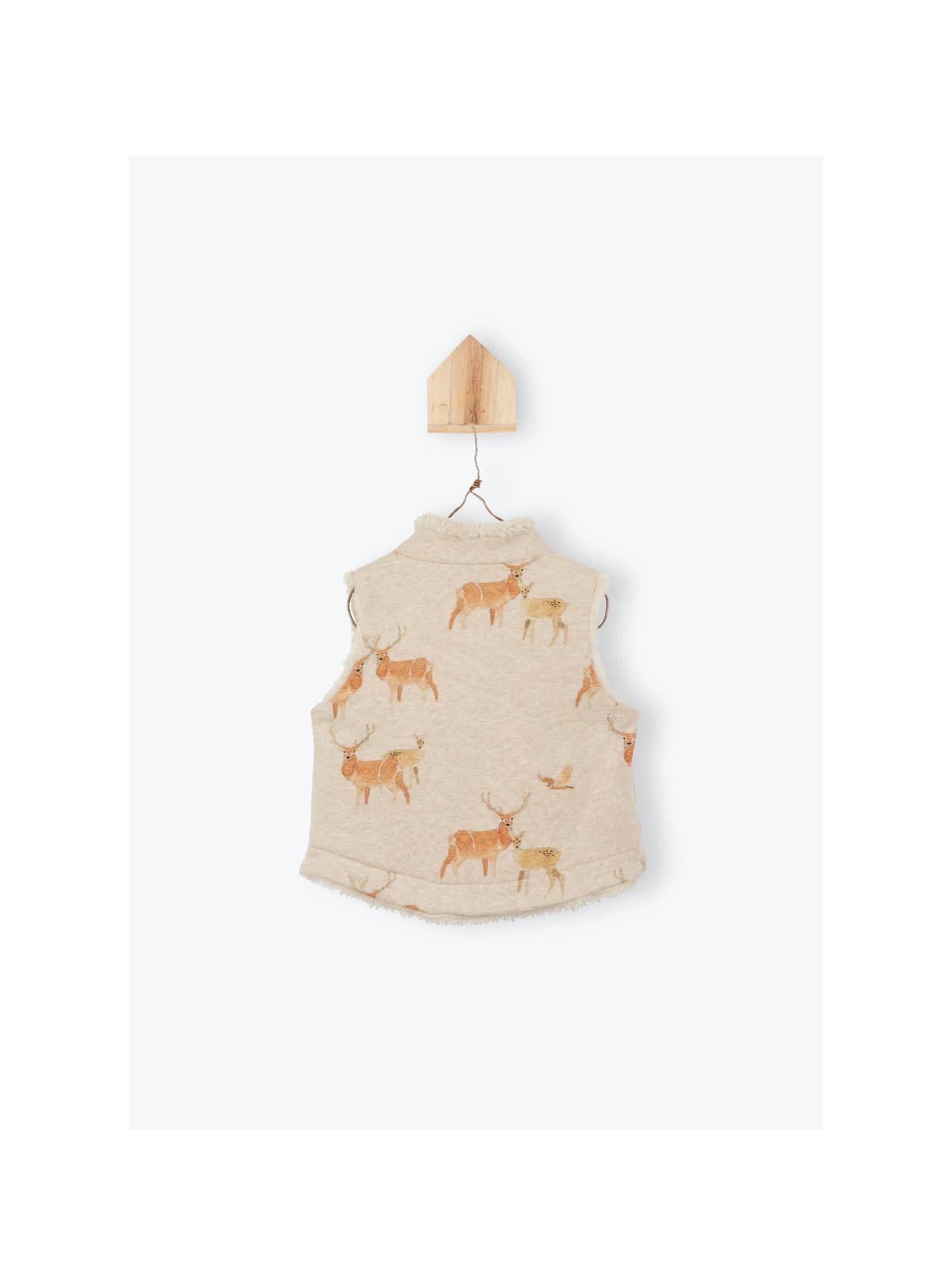 Arsène et les Pipelettes Deer reversible waistcoat - Astère