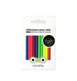 Rainette Rainette wheel spoke reflectors - fluo