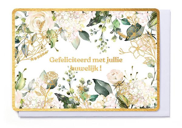 Enfant Terrible Enfant Terrible card  + enveloppe 'Gefeliciteerd met jullie huwelijk'