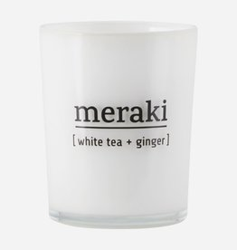 Meraki Meraki scented candle white tea & ginger 8 x 10,5 cm