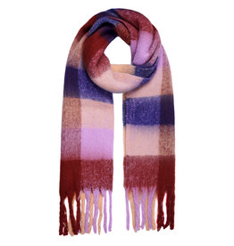 With love Scarf checkered burgundy