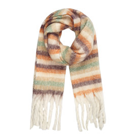 With love Striped scarf beige