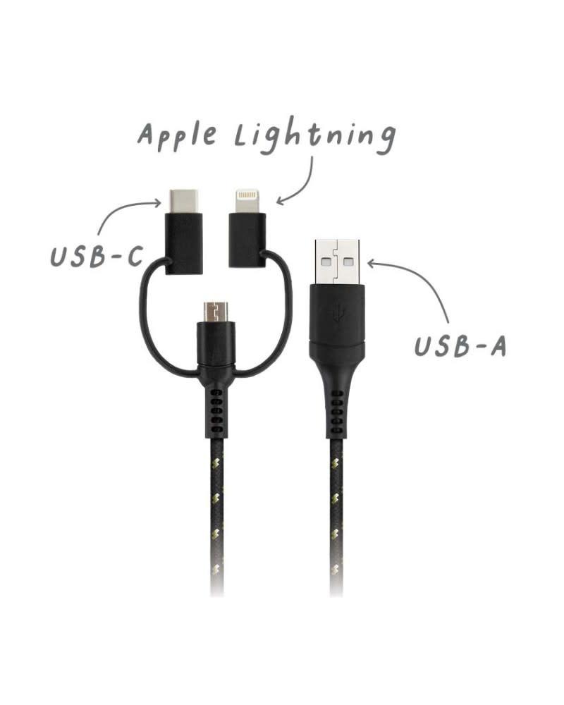 Lexon Usbepower USB-A 3 in 1 universal cable  Graphiti