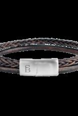 Steel & Barnett Leather bracelet Denby - Brown size S