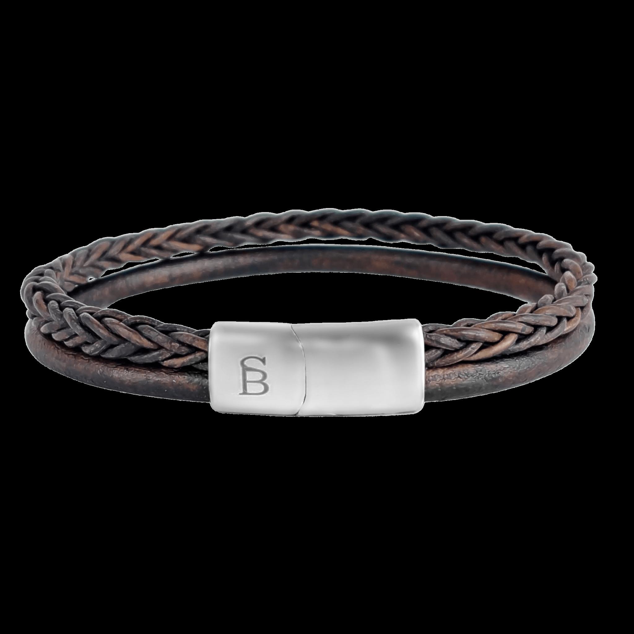 Steel & Barnett Leather bracelet Denby - Brown size M