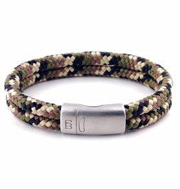 Steel & Barnett Rope bracelet Lake - Camouflage - Size S