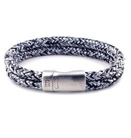 Steel & Barnett Rope bracelet Lake - Black denim - size L