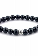 Steel & Barnett Stones bracelet basic - Night Black - Size M
