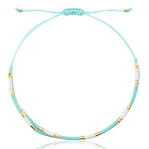 With love Bracelet miyuki light blue - white