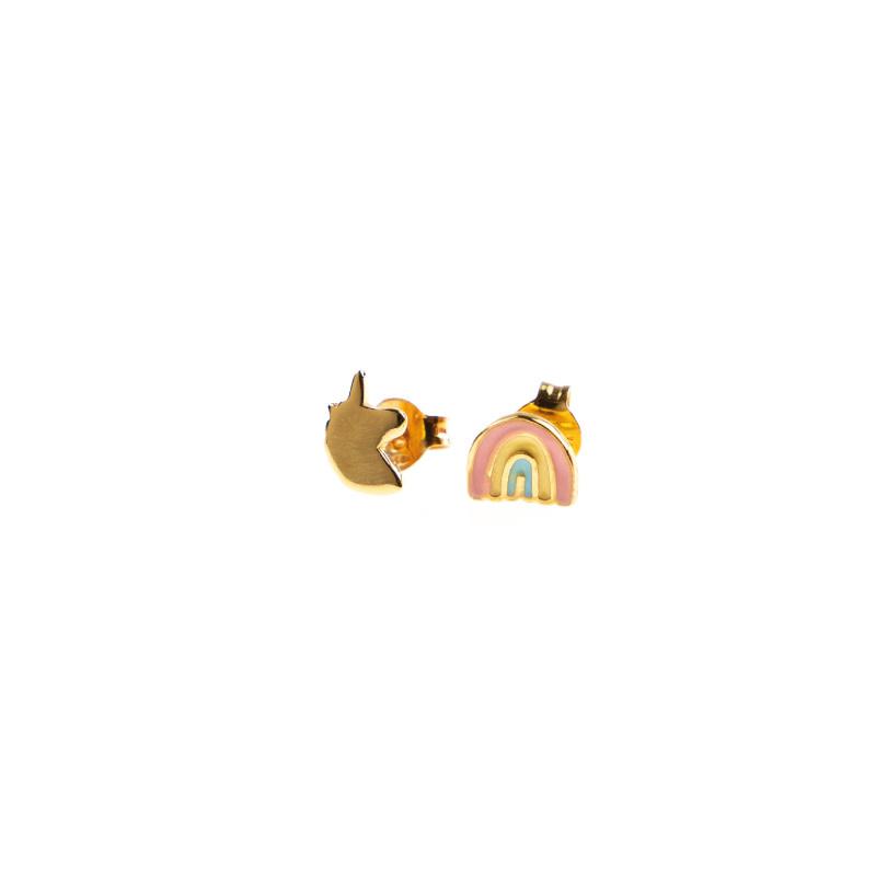 Selva Sauvage Earstuds pair rainbow - unicorn