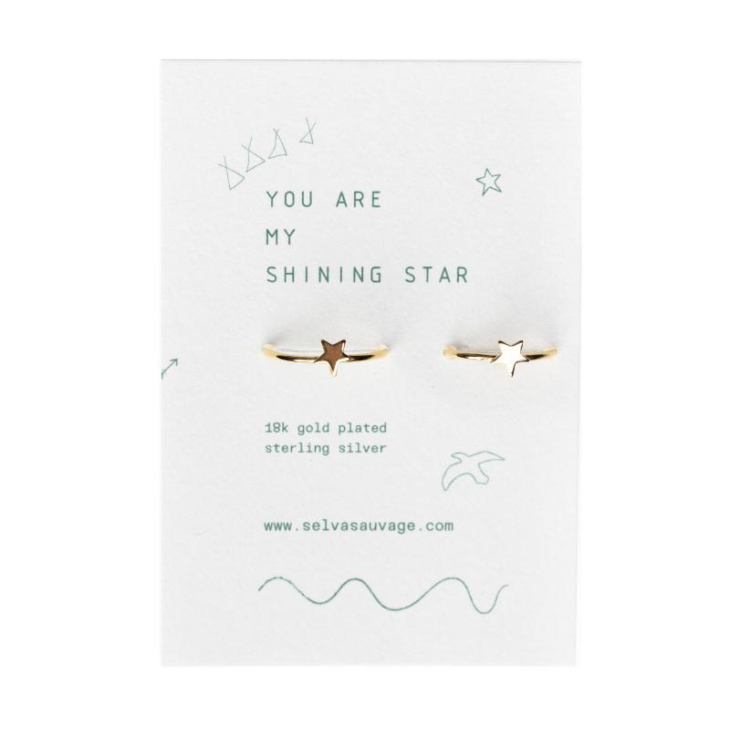 Selva Sauvage Ring set adult - child / Star