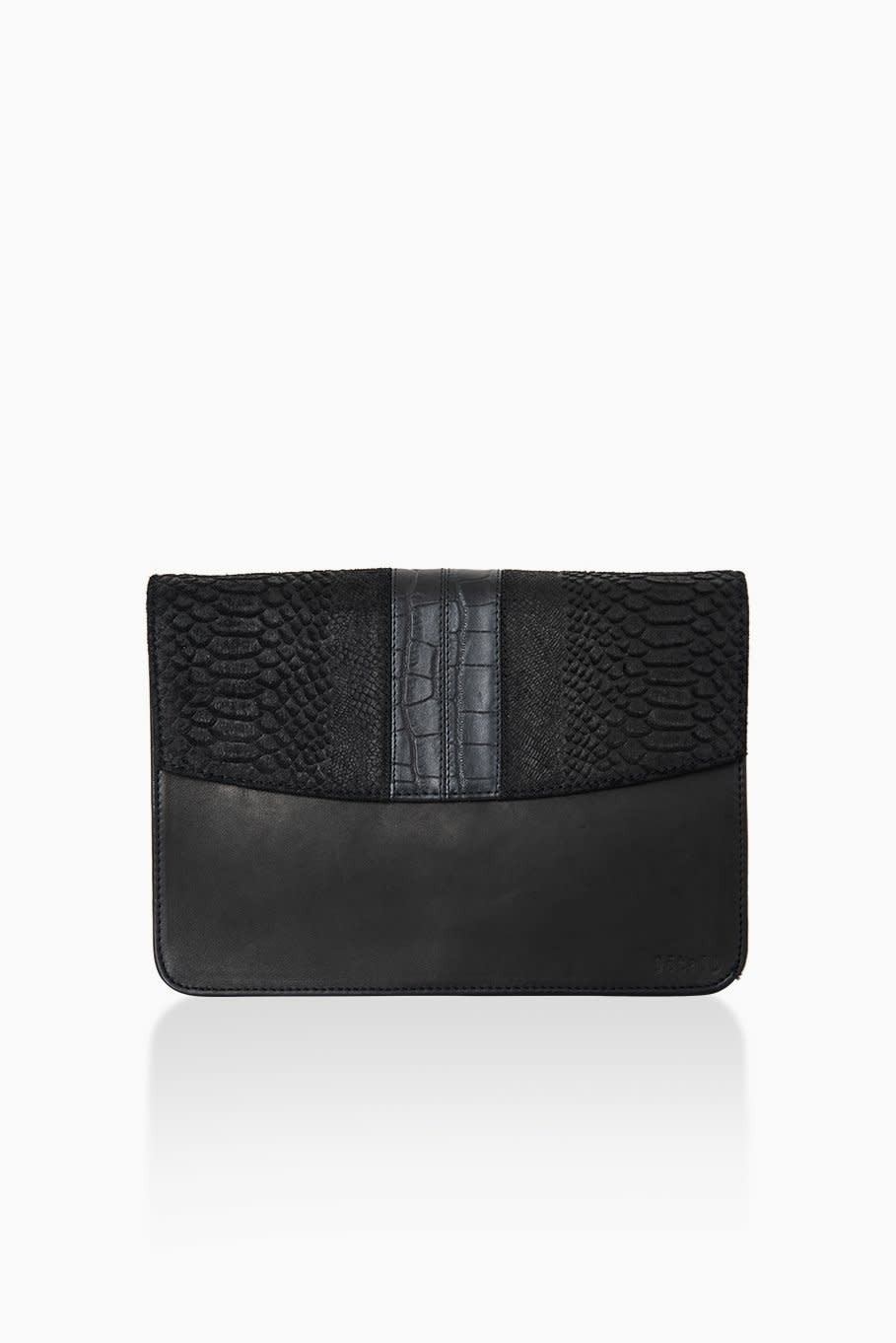 Détail Detail Harmony handbag Black anaconda 27.5 x 9 x 20 cm