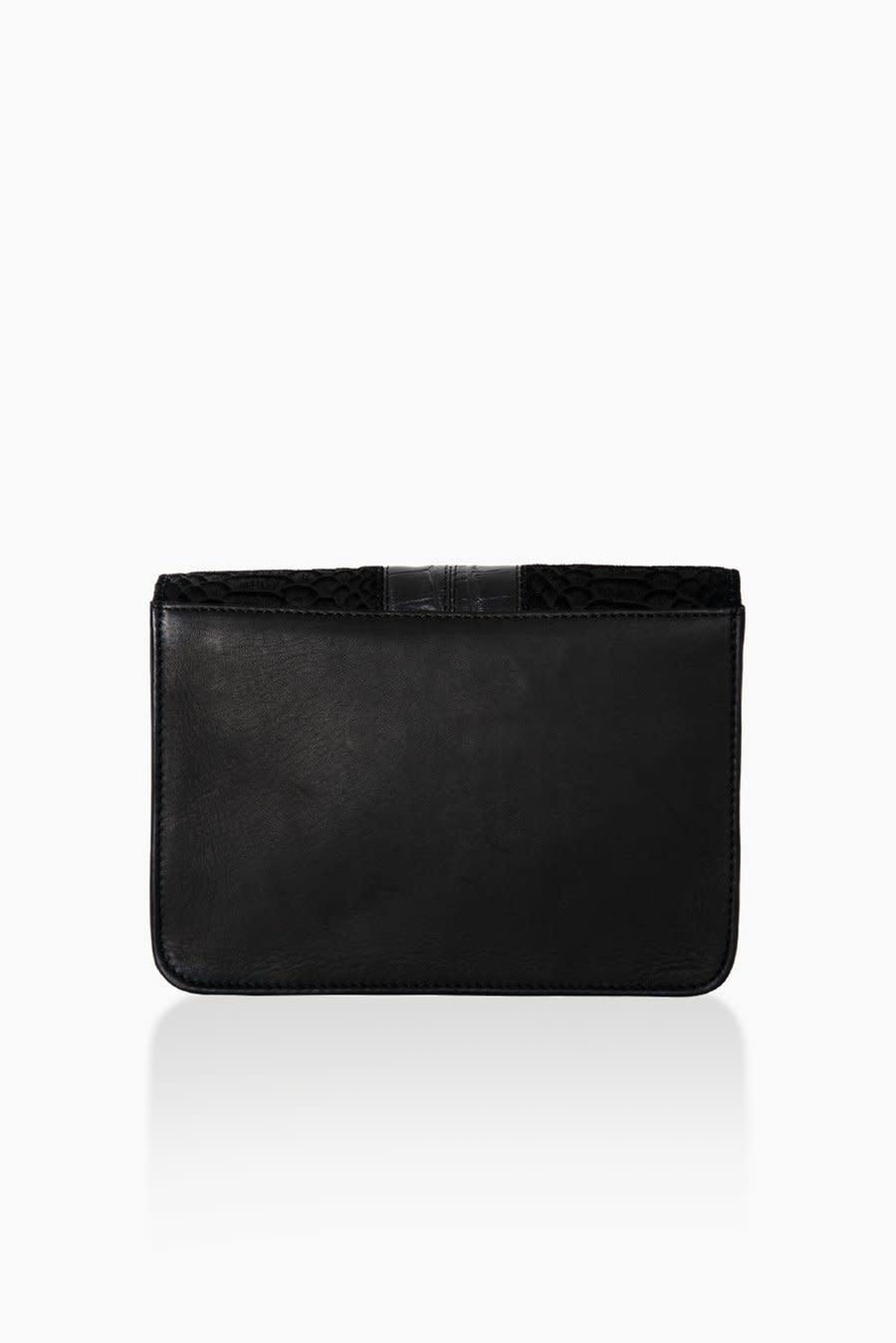 Détail Detail Hope handbag Black anaconda 21 x 7 x 15 cm