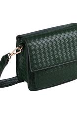 With love Bag braided  Dark green 18cm x 15cm