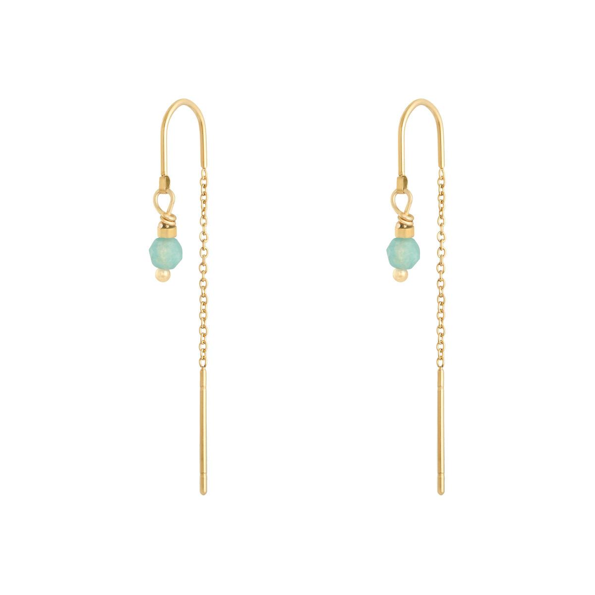 With love Earrings admiral - gold aqua