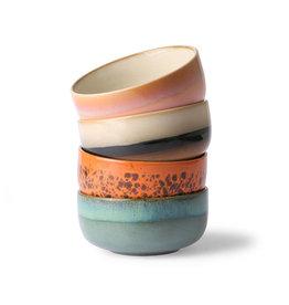HK Living Ceramic 70's dessert bowls (set of 4) 12,5x12,5x6cm