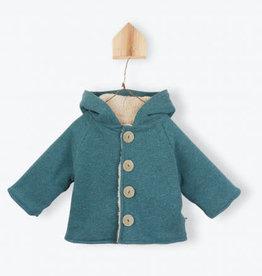 Arsène et les Pipelettes Organic fleece vest with hood