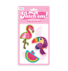 Ooly Iron on patch - Tropical birds
