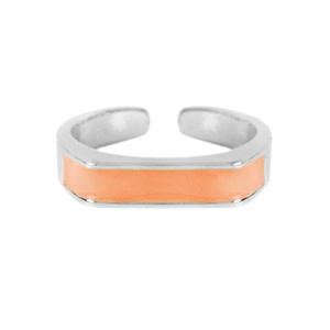 With love Ring enamel orange - silver