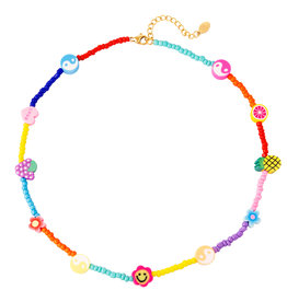 With love Necklace colored beads
