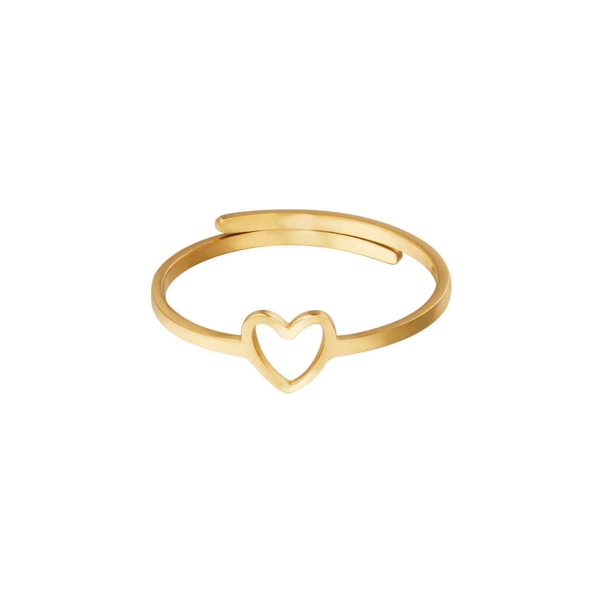 With love Ring open heart gold
