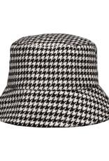 With love Bucket hat checkered - black & white