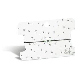 Lief Label Bracelet heart - black