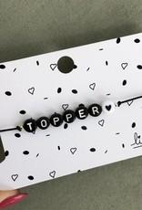 Lief Label Bracelet topper - black