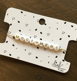 Lief Label Bracelet mooi mens - beige