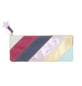 Mimi & Lula Rainbow stripe pencil case 21.5 c 9.5 cm