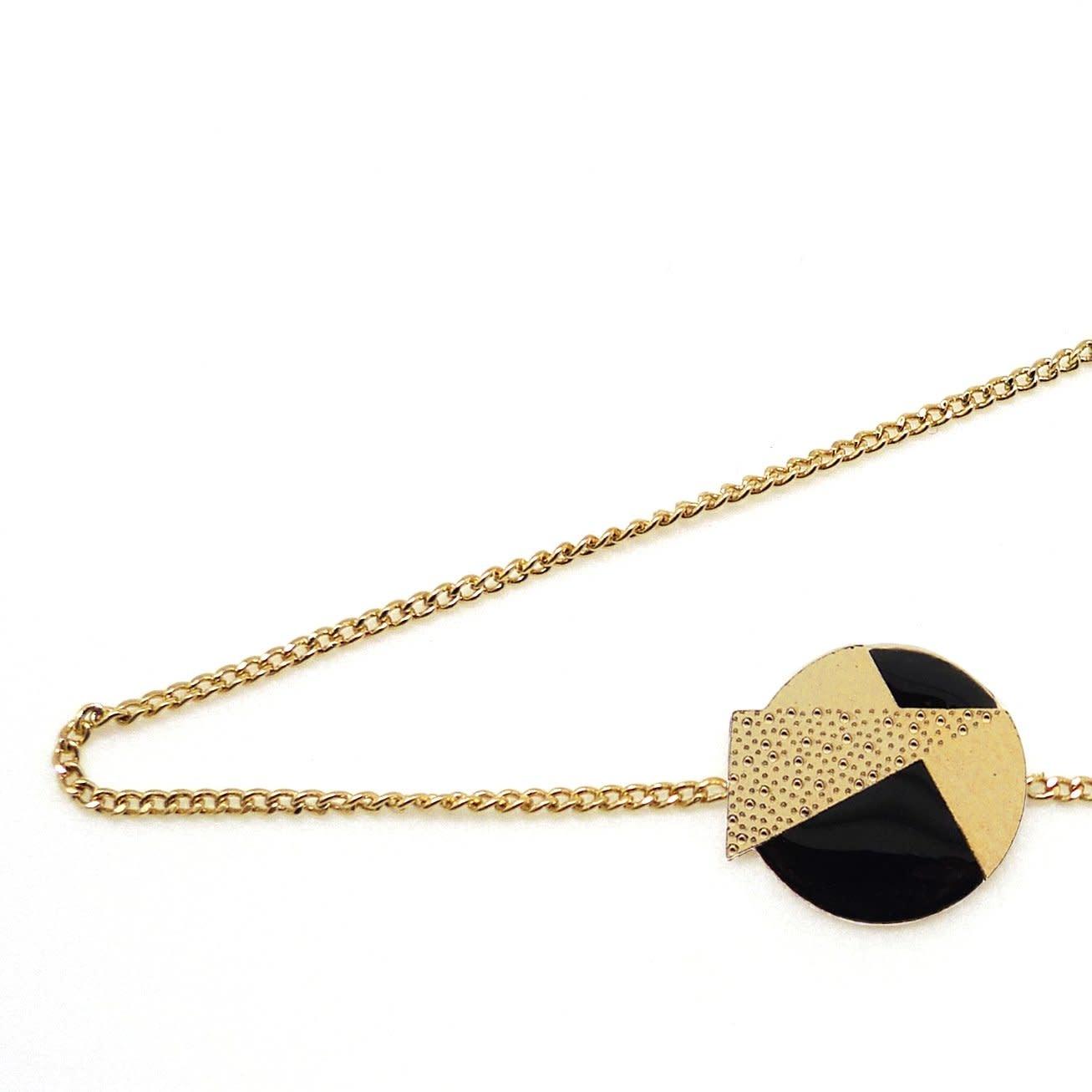 Nadja Carlotti Silver bracelet Lizzy - Black