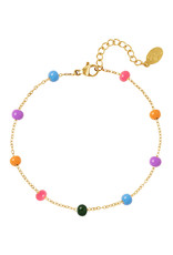With love Bracelet colored beads