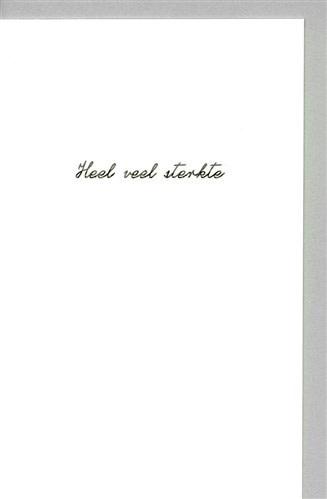 Papette Papette small greeting card 'Heel veel sterkte' 8,5 x 13,3 cm