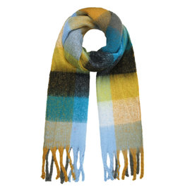 With love Scarf winter magic turquoise - camel
