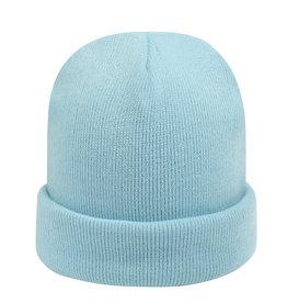 With love Beanie rainbow colors - light blue