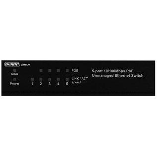 Eminent EM4430 Unmanaged Fast Ethernet (10/100) Power over Ethernet (PoE) Zwart netwerk-switch