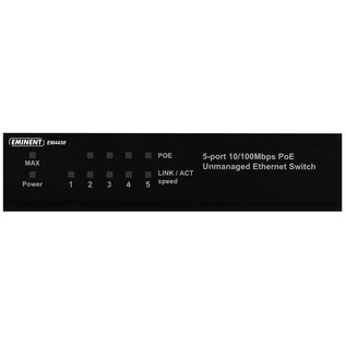 Eminent Eminent EM4430 Unmanaged Fast Ethernet (10/100) Power over Ethernet (PoE) Zwart netwerk-switch