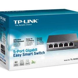 TP Link TP-LINK TL-SG105E L2 Gigabit Ethernet (10/100/1000) Zwart netwerk-switch