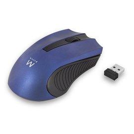 Ewent EW3228 muis RF Draadloos Optisch 1000 DPI Ambidextrous Zwart, Blauw