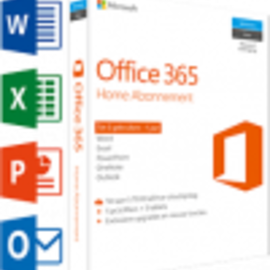 Microsoft Office Microsoft Office 365 Home 5-PC/MAC 1 jaar