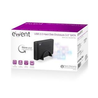 """Ewent Ewent EW7051 behuizing voor opslagstations 3.5 usb 2.0"""" Zwart"""
