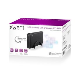 "Ewent EW7056 behuizing voor opslagstations 3.5"" usb 3.0 HDD-behuizing Zwart"