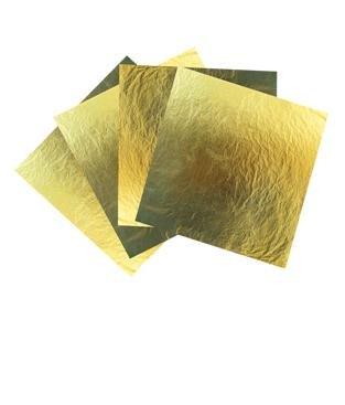 Alissi Brontë Luxe goud blaadjes 24K 80 x 80 mm