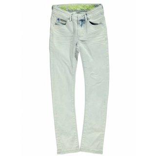 Blauwe curved slim jeans Stephen