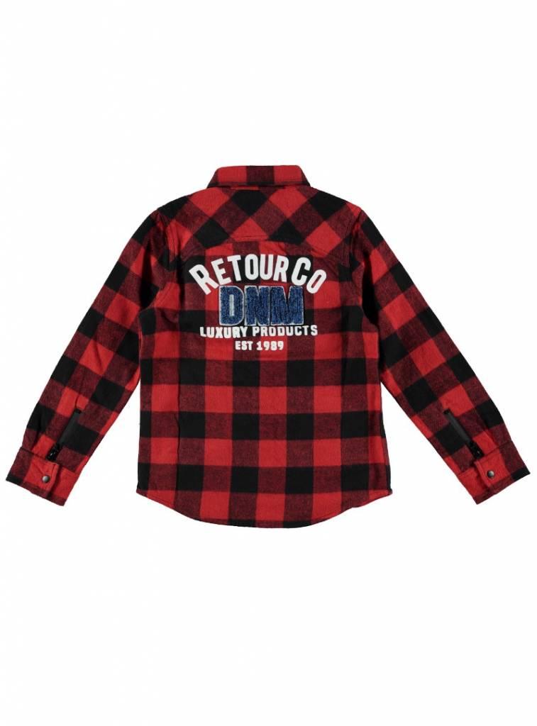 Overhemd Rood Zwart Geblokt.Retour Rood Overhemd Guy Capuchon Fashion