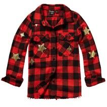 Rode geblokte blouse Lisire