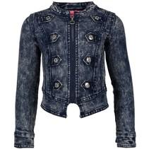 Donkerblauwe denim jacket 5201